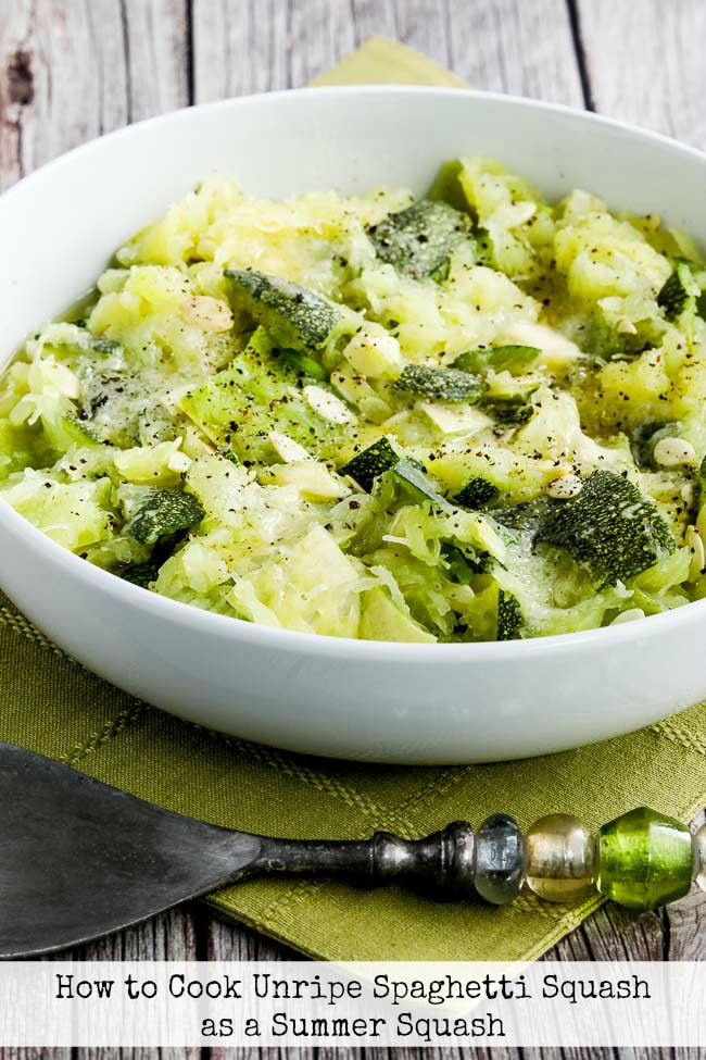 Text Photo for How to Cook Unripe Spaghetti Squash as a Summer Squash