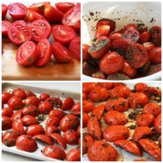 How to Make Slow Roasted Tomatoes found on KalynsKitchen.com