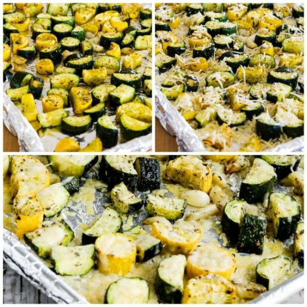 Roasted Summer Squash with Garlic and Parmesan found on Kalyn'sKitchen.com
