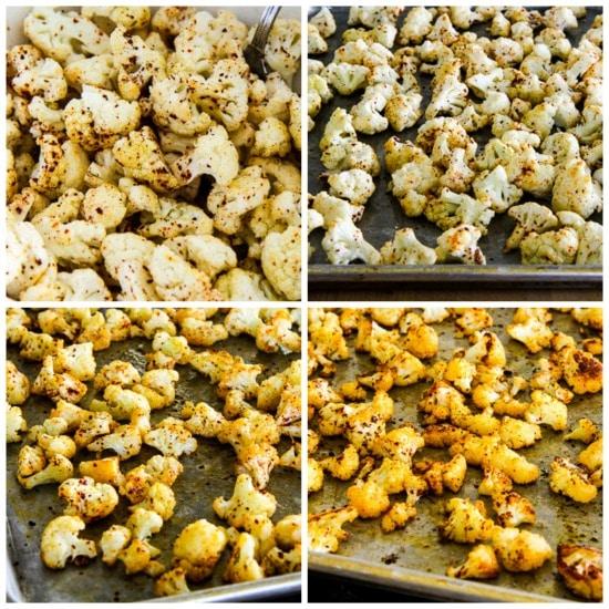 Roasted Spicy Cauliflower found on KalynsKitchen.com