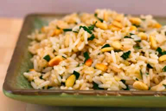 Photo for Basil and Parmesan Rice with Pine Nuts