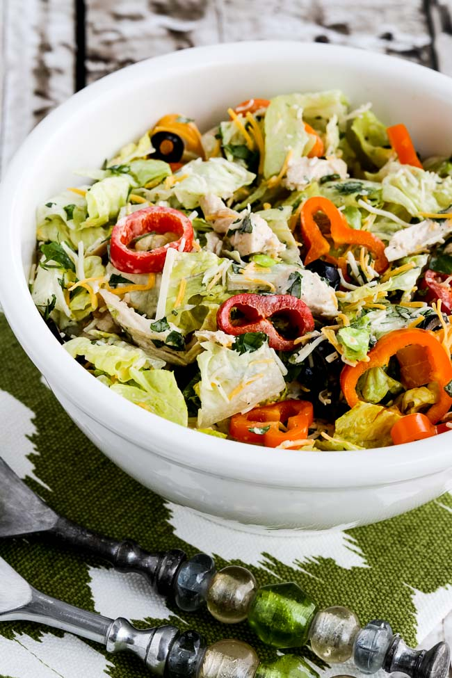 Low Carb Southwest Chicken Salad With Chipotle Ranch Dressing