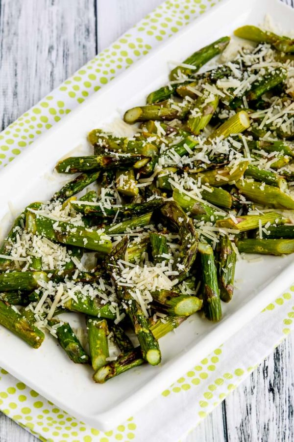 close-up photo for air fryer asparagus