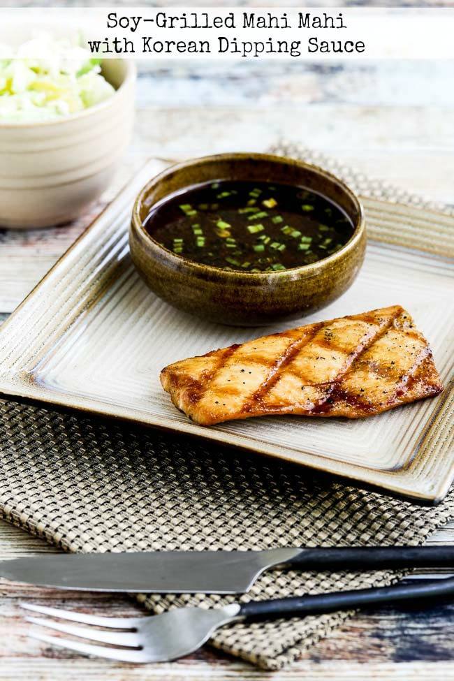 Soy-Grilled Mahi Mahi with Korean Dipping Sauce top photo