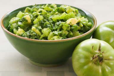 Salsa Verde with Green Tomatoes, Avocados, and Cilantro