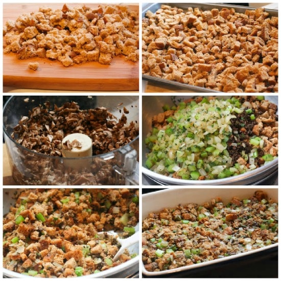 Stuffing with Whole Wheat Bread and Mushrooms found on KalynsKitchen.com