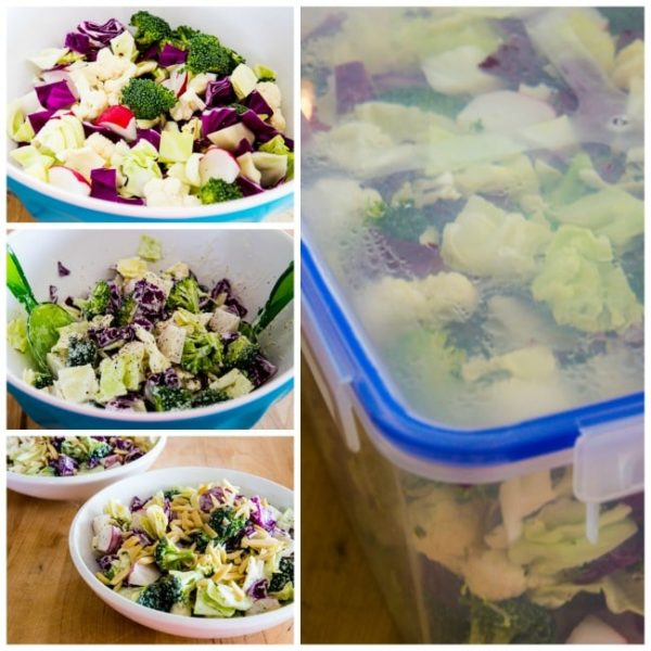 Crunchy Low-Carb Chopped Salad found on KalynsKitchen.com