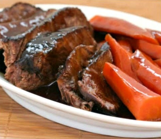 Soy-Braised Stove-Top Pot Roast with Carrots