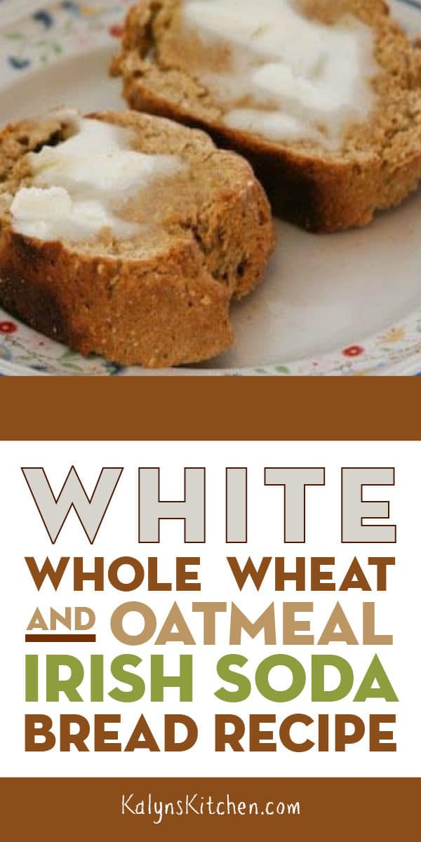 White Whole Wheat and Oatmeal Irish Soda Bread Recipe