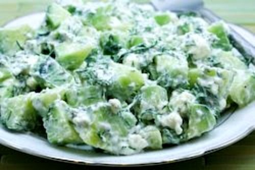 Cucumber and Yogurt Salad with Feta and Dill