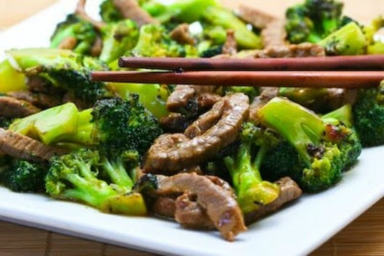 Stir-Fried Beef and Broccoli with Ginger and Ponzu Sauce found on KalynsKitchen.com
