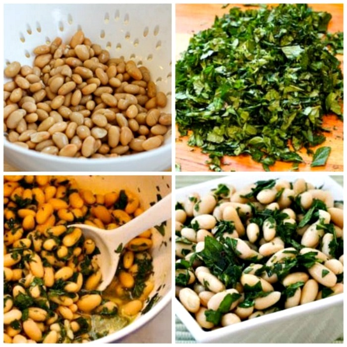 Cannellini Beans in Mint Marinade process shots collage