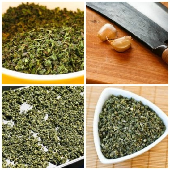 Sage, Rosemary, and Garlic Dried Herb Rub (from Judy and David) found on KalynsKitchen.com