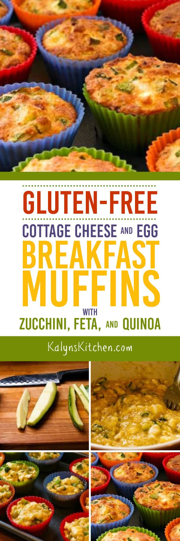 Gluten-Free Cottage Cheese and Egg Breakfast Muffins with Zucchini, Feta, and Quinoa found on KalynsKitchen.com
