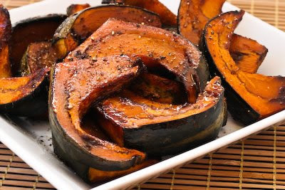 Agave and Balsamic Glazed and Roasted Buttercup Squash [found on KalynsKitchen.com]