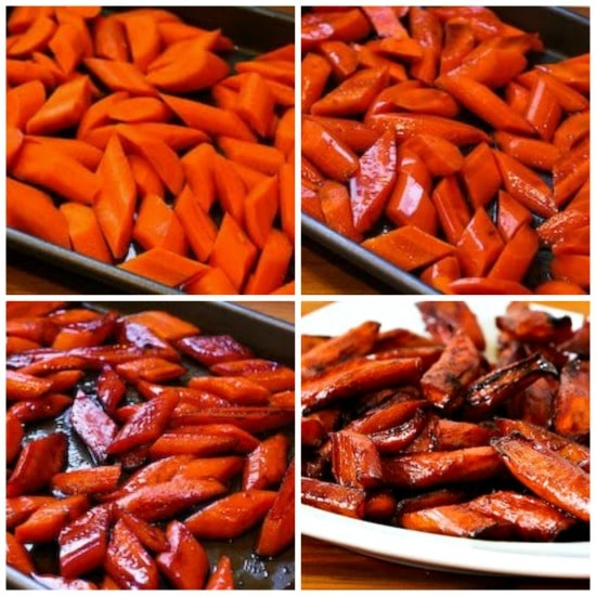 Roasted Carrots with Balsamic Glaze found on KalynsKitchen.com