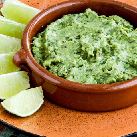Cilantro-Lover's Perfect Guacamole with Red Onion, Lime, and Chiles