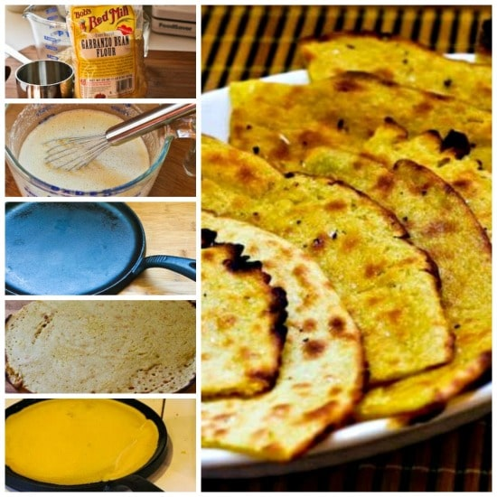 Socca (Garbanzo or Chickpea Flour Flatbread from France) found on KalynsKitchen.com.
