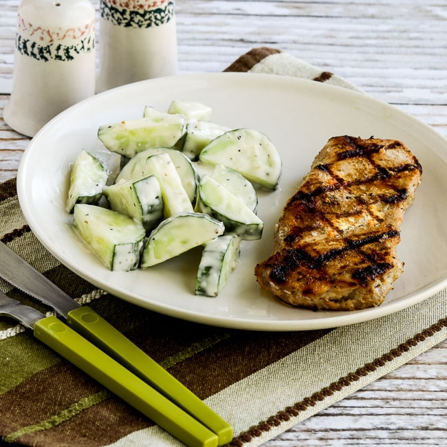 Thumbnail photo for Grilled Boneless Pork Chops with Lemon, Garlic, and Sage