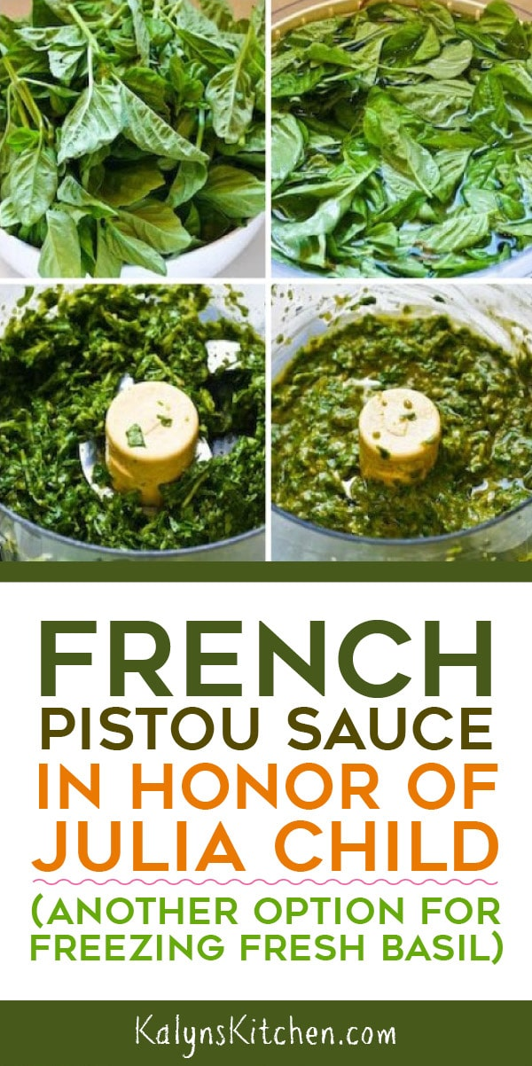 Pinterest image of French Pistou Sauce in Honor of Julia Child