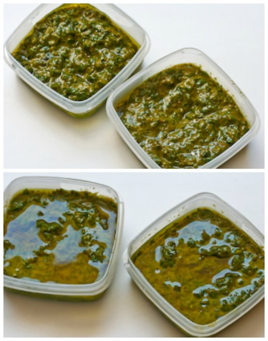 French Pistou Sauce in Honor of Julia Child (dairy-free, can freeze)