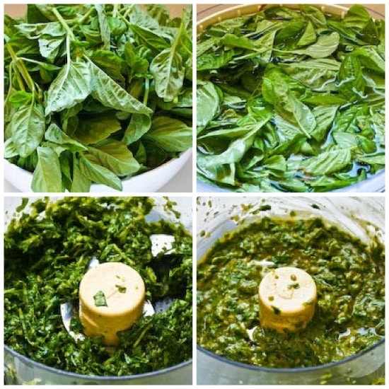 Another Option for Freezing Fresh Basil: French Pistou Sauce in Honor of Julia Child found on KalynsKitchen.com