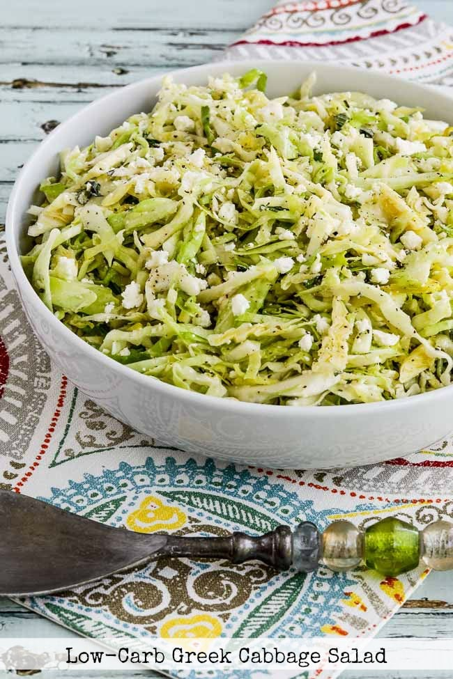 Top Photo Low-Carb Greek Cabbage Salad