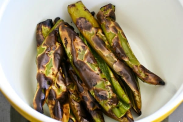 roasted green chiles to use in Fresh Tomatillo Salsa