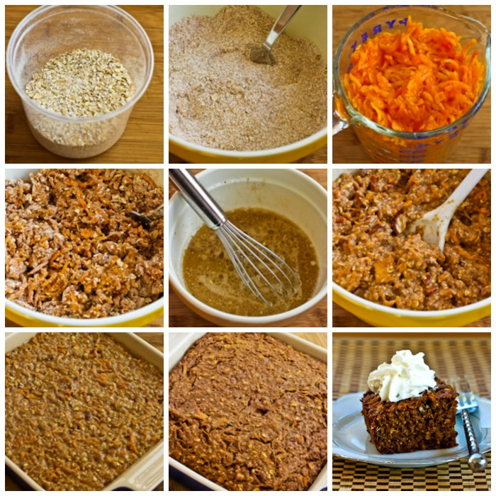 Oatmeal Spice Cake with Persimmon process shots collage