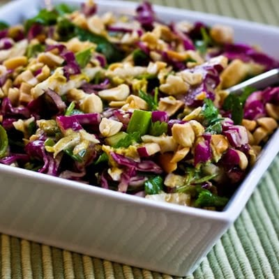 Napa Cabbage And Red Cabbage Salad With Fresh Herbs And Peanuts Kalyn S Kitchen