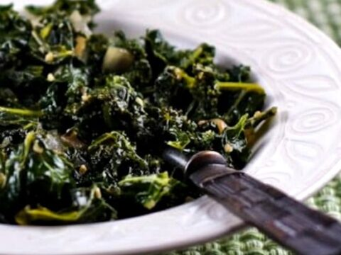 Sauteed Kale With Garlic And Onion Kalyn S Kitchen