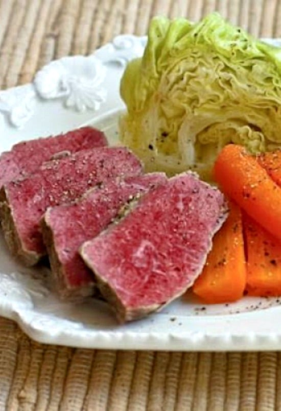 Slow Cooker Corned Beef with Veggies and Horseradish Sauce