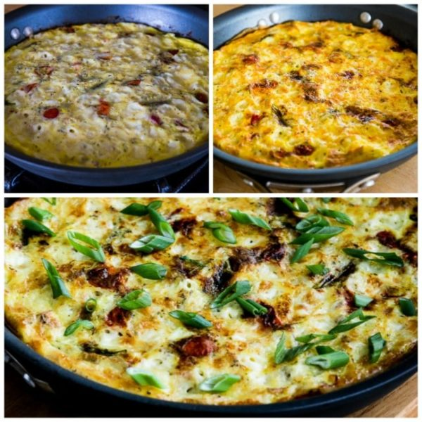 Asparagus and Tomato Frittata with Havarti and Dill found on KalynsKitchen.com