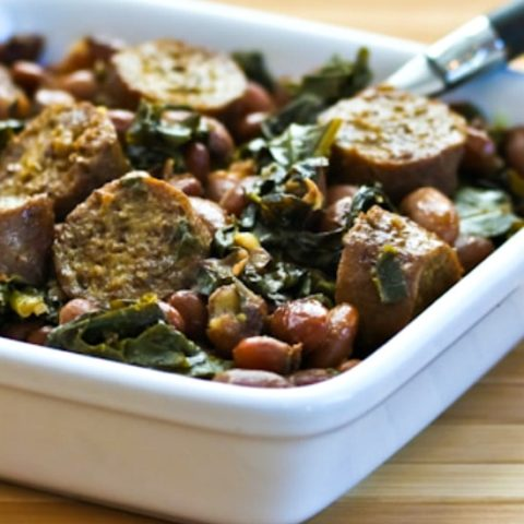 Crockpot Sausage, Beans, and Greens