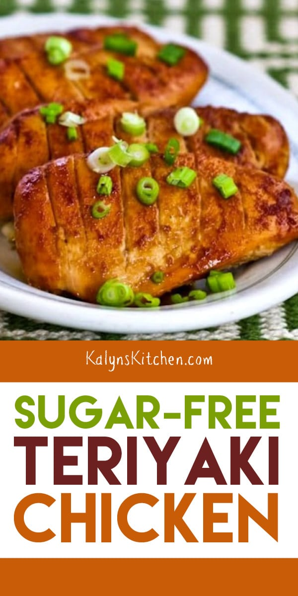 Pinterest image of Sugar-Free Teriyaki Chicken
