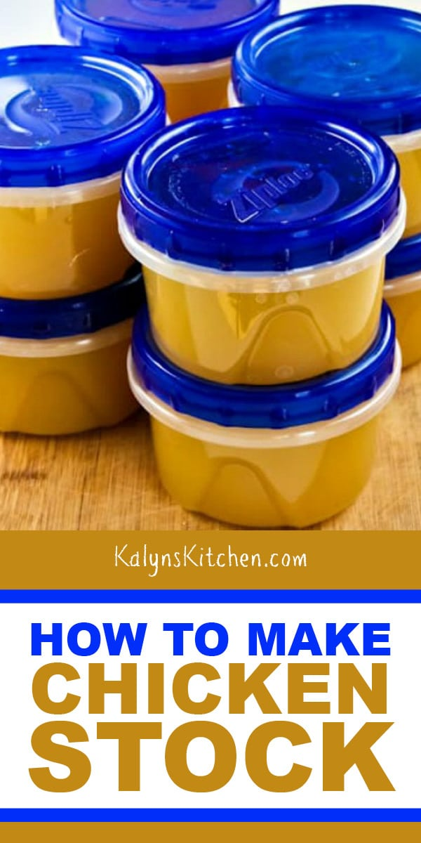 Pinterest image of How to Make Chicken Stock