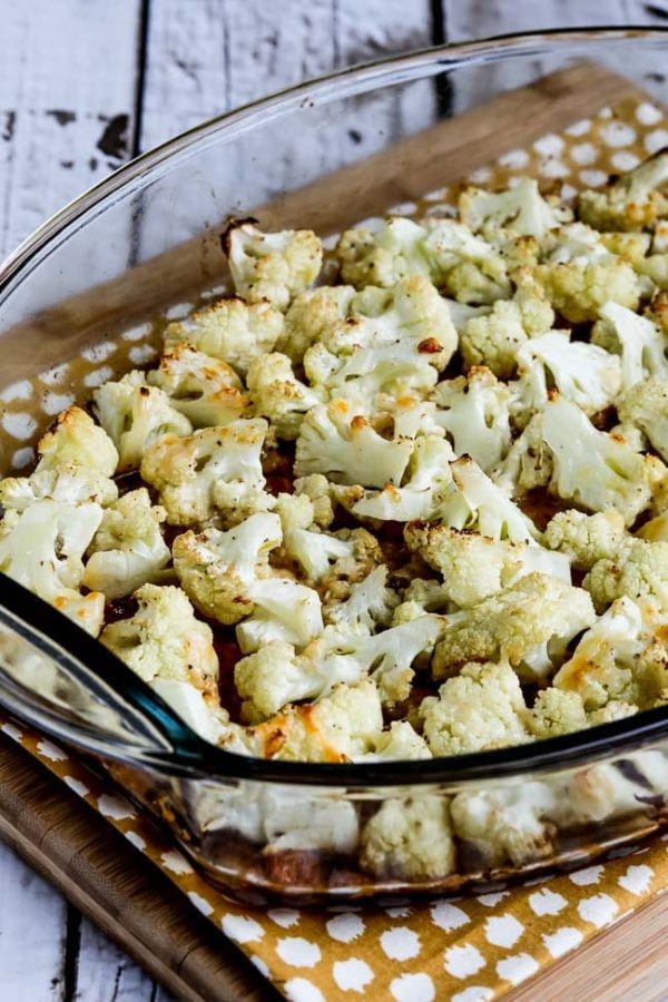 Roasted Cauliflower with Parmesan found on KalynsKitchen.com