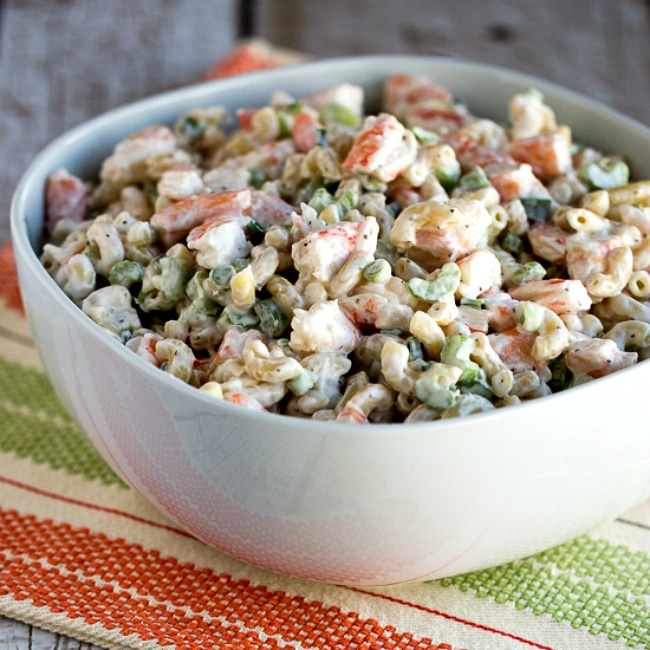 Shrimp and Macaroni Salad square thumbnail image of salad in bowl