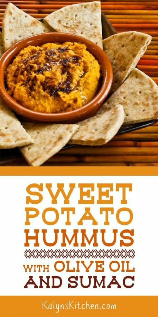 Sweet Potato Hummus with Olive Oil and Sumac found on KalynsKitchen.com