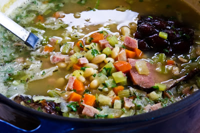 White Bean Soup with Ham and Rosemary found on KalynsKitchen.com