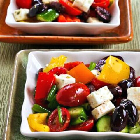 Chopped Greek Salad with Peppers