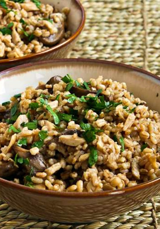 Barley Pilaf with Dried and Fresh Mushrooms