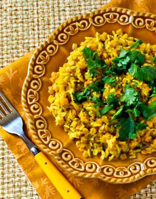 Curried Rice and Red Lentils found on KalynsKitchen.com