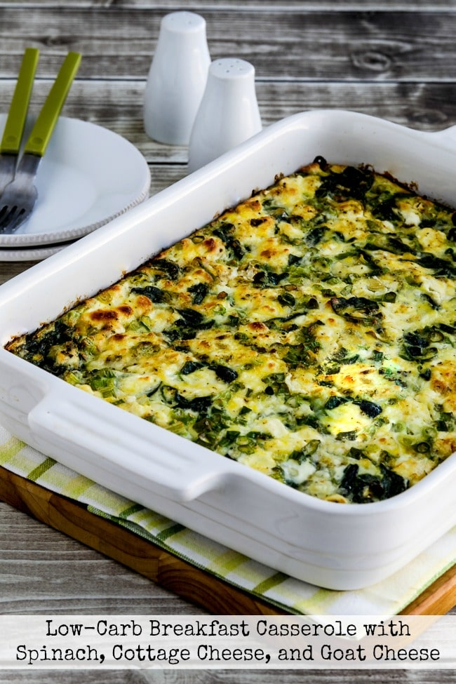 Breakfast Casserole with Spinach and Goat Cheese