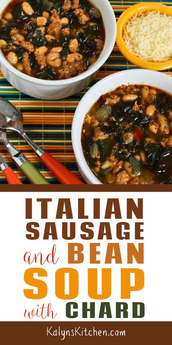Italian Sausage and Bean Soup with Chard found on KalynsKitchen.com