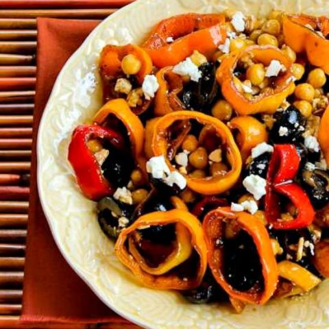 Marinated Pepper Salad  with Garbanzos
