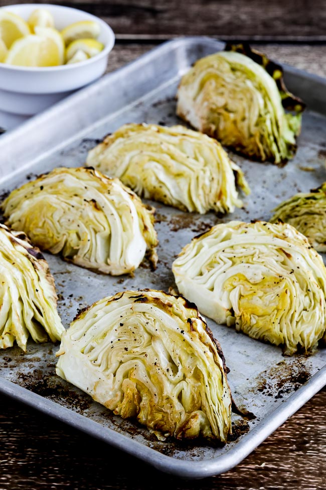 Roasted Cabbage With Lemon Video Kalyn S Kitchen