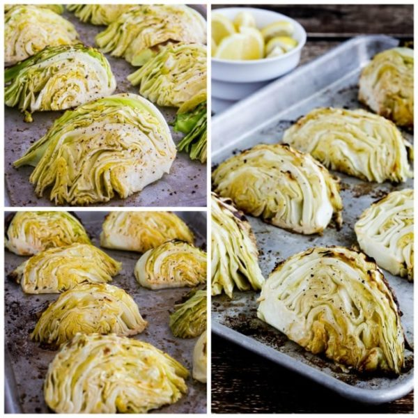 Low-Carb Roasted Cabbage with Lemon found on KalynsKitchen.com.