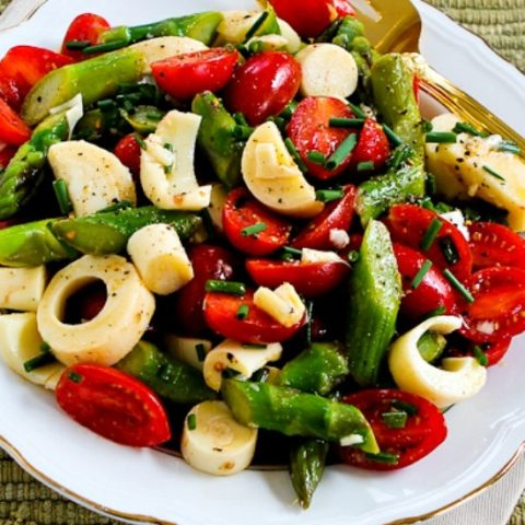 Asparagus and Tomato Salad with Hearts of Palm