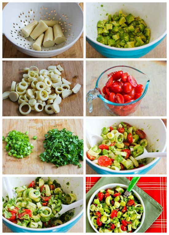 Heart of Palm Salad with Tomato, Avocado, and Lime found on KalynsKitchen.com
